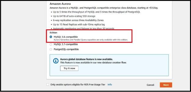 Choosing MYSQL version