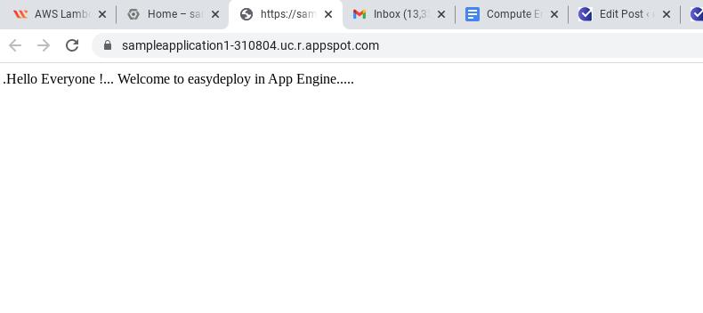 App Engine website