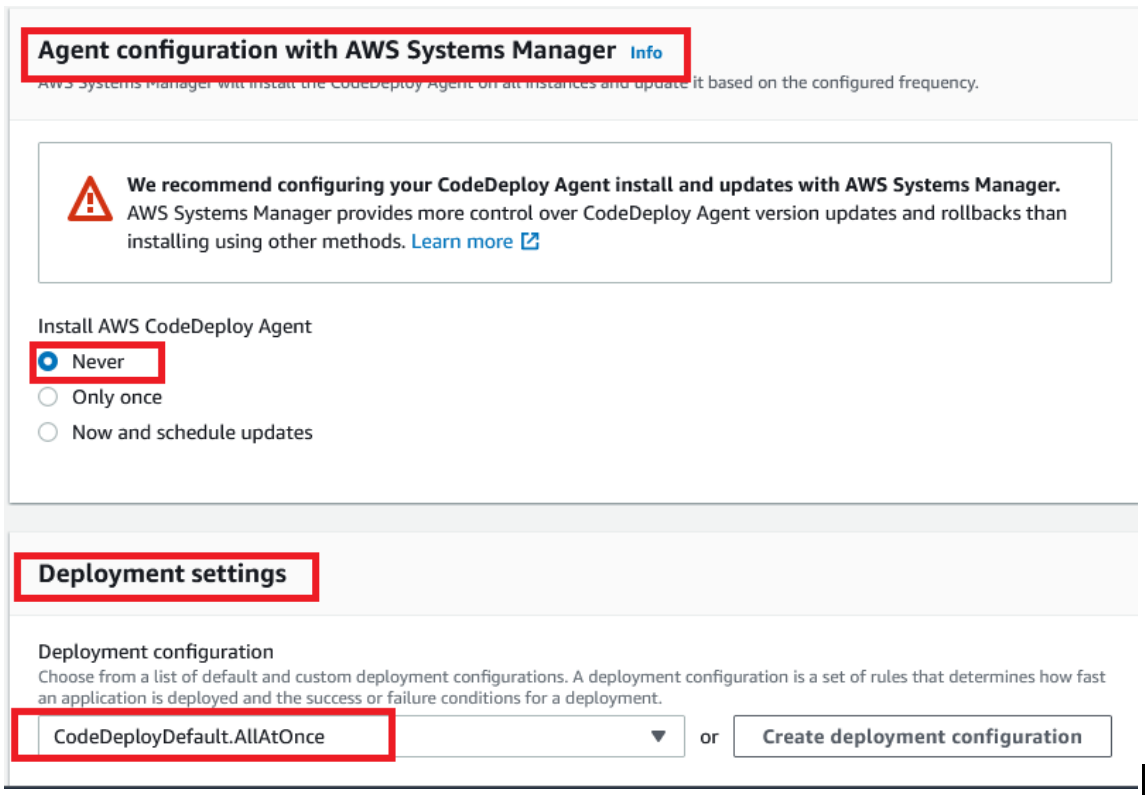 Agent Configuration with AWS system Manager