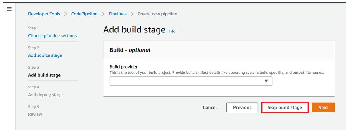 SAAS Build stage