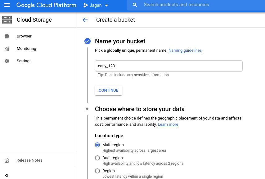 Cloud Bucket overview