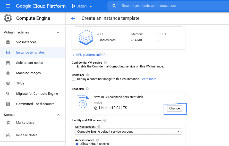Changing custom image in GCP