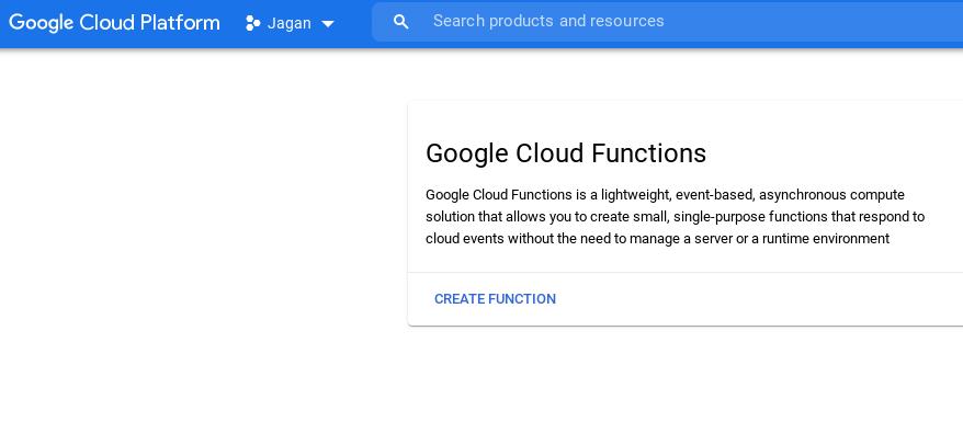 Cloud function UI